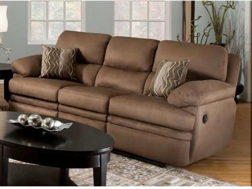 Chelsea Home Oswago Reclining Sofa - Shiloh Chocolate modern-sofas