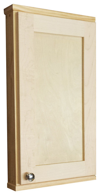 Series 24-inch Natural Finish 2.5-inch Deep Inside On The Wall Cabinet ...