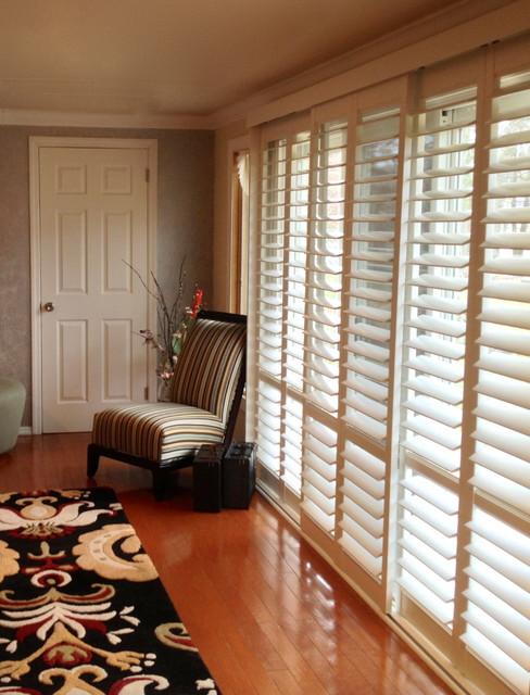 plantation shutters new york by breslow home design center. Black Bedroom Furniture Sets. Home Design Ideas