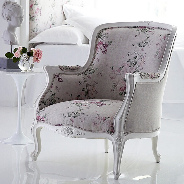 Louis Rose Tub Chair traditional-armchairs-and-accent-chairs