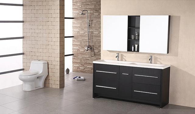 Design Element Perfecta Modern Double Sink Bathroom Vanity Set contemporary-bathroom-vanities-and-sink-consoles