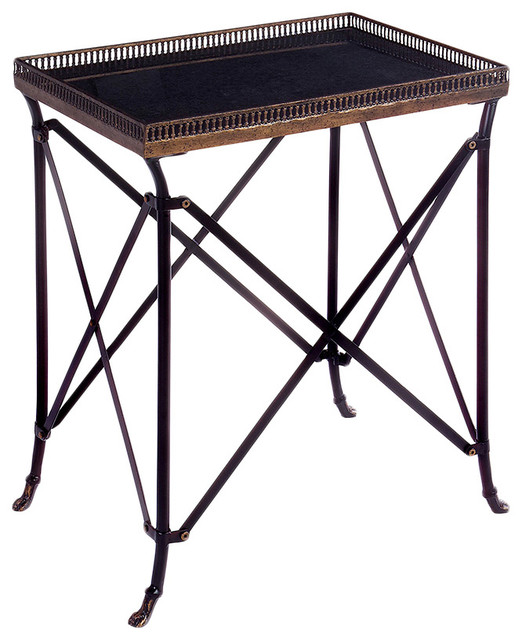 IMAX Rectangular Black Accent Table contemporary-side-tables-and-end-tables