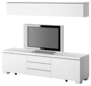 Ikea white tv stand - Mueble televisor ikea ...