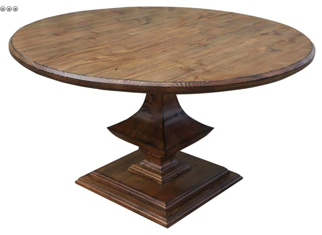 Algonquin Round Trestle Dining Table Mediterranean Dining Tables
