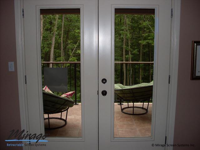 Mirage Retractable Screens - Opened & Closed screen-doors