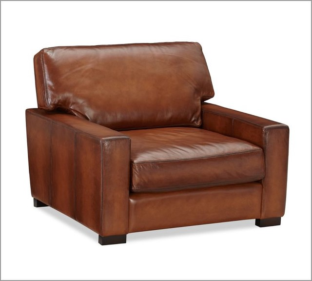 Turner Leather Armchair Traditional Armchairs And