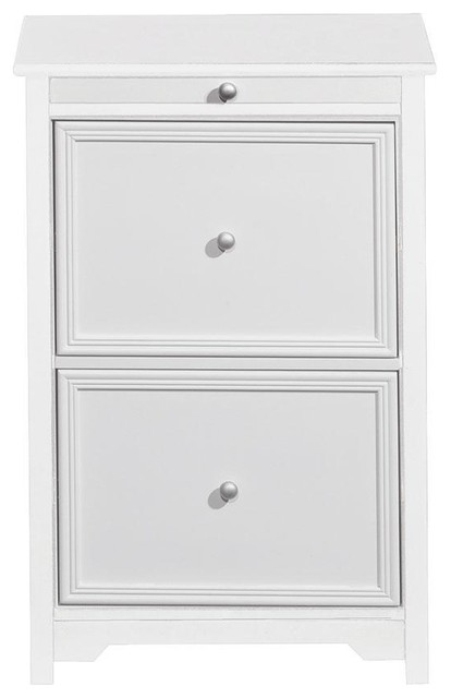 Oxford File Cabinet with Pull-out Shelf - Traditional - Filing Cabinets