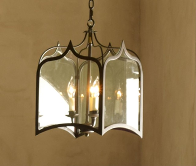 Wrought Iron Lantern Chandelier, Small by Pierre Deux traditional-ceiling-lighting