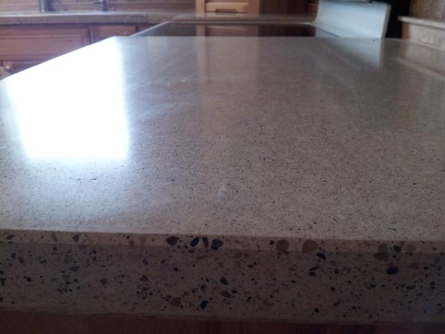 White concrete countertops - Modern - Kitchen Countertops - grand rapids - by Earthyconcreteartisan