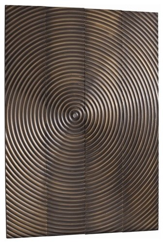 Arteriors Epicenter Vintage Brass Mtal Clad Wall Plaques,S/4 contemporary artwork