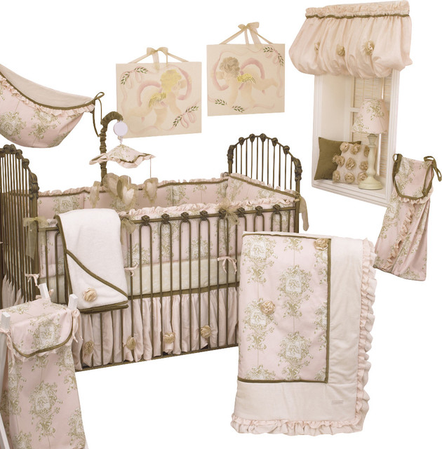Lollipops And Roses 7pc Crib Bedding Set