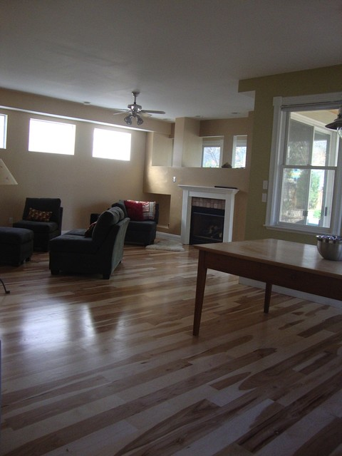 Wide Plank Hickory Wood Flooring Modern Hardwood