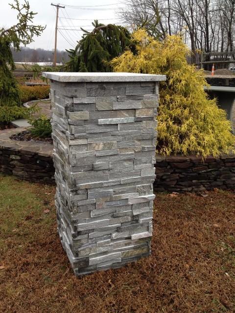 Outdoor Stone Pillars : Stone pillars columns piers contemporary