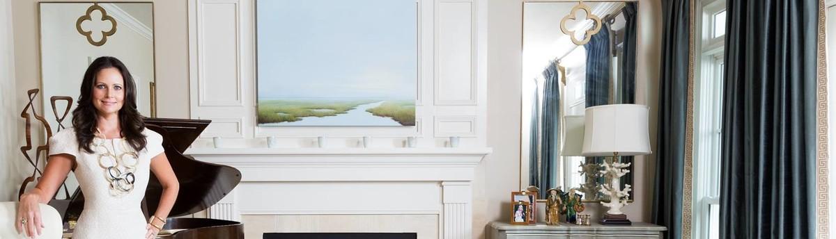 Formal serene Living room with Coastal elements