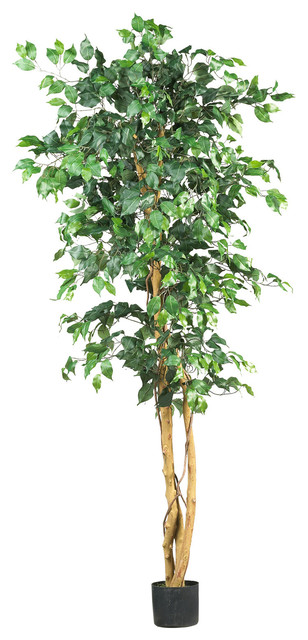 Nearly Natural 6' Focus Silk Tree traditional-artificial-flowers