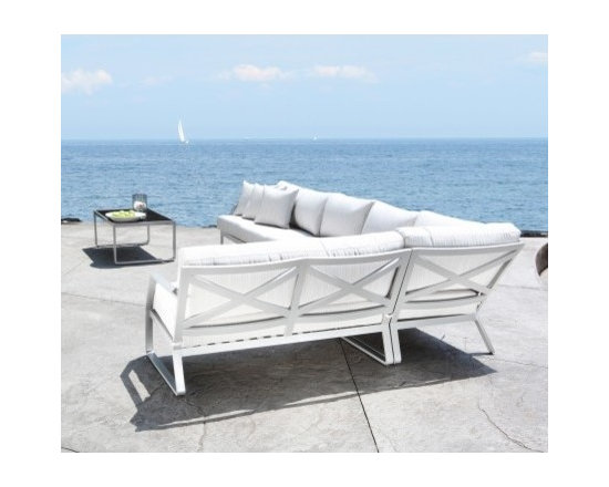 Cast Aluminum Sectional Sofa -