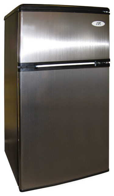 Double Door Refrigerator with Energy Star, 3.2 Cu. Ft., Stainless Steel contemporary-refrigerators
