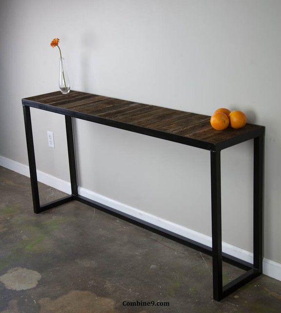 Wooden Console Tables Contemporary ~ Modern sofa table reclaimed wood urban vintage