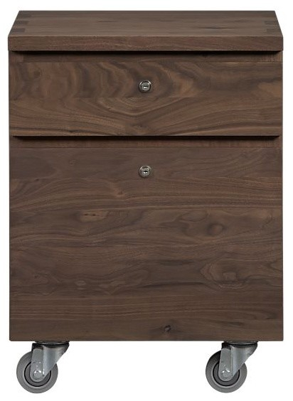Sentry Walnut Filing Cabinet - Modern - Filing Cabinets And Carts - by Crate&Barrel