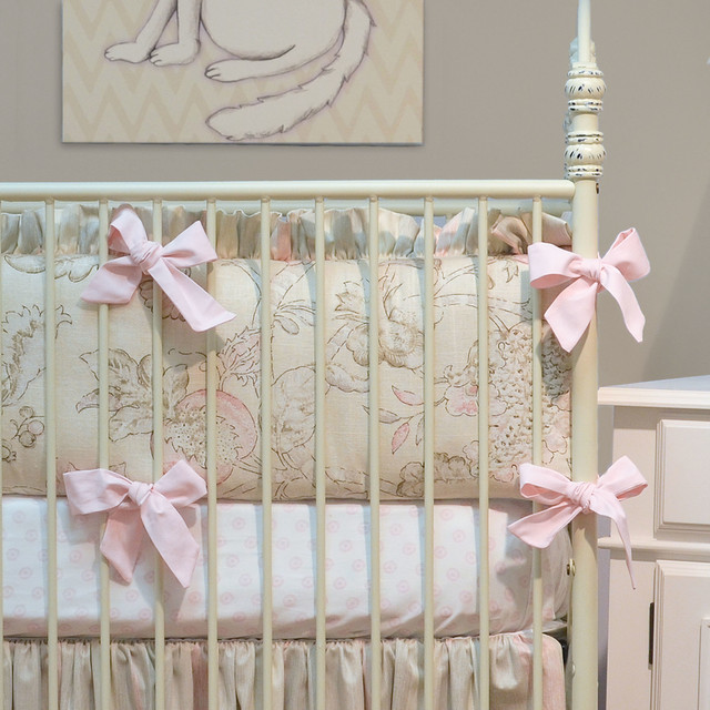 Doodlefish Peony Crib Bedding traditional-baby-bedding