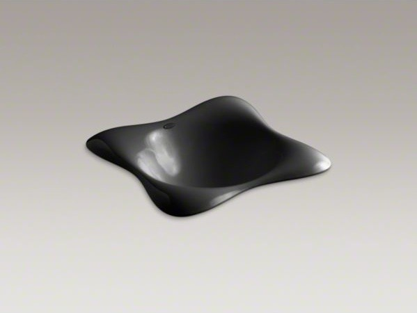 KOHLER Dolce Vita(R) Vessel above-counter or wall-mount bathroom sink with Black contemporary-bathroom-sinks