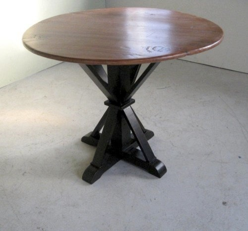 small round farm table with pedestal farmhouse dining
