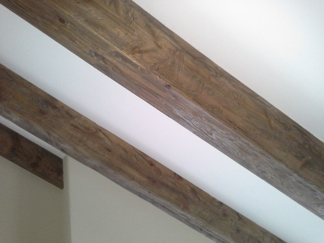 Weathered wood ceiling beams traditional minneapolis by distress