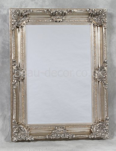 silver french style decorative wall mirror victorian
