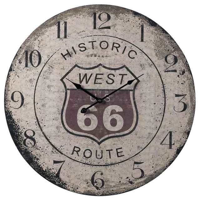 Route 66 Clock Rustic Clocks By We Got Lites