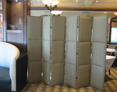 Folding Upholstered Screen contemporary screens and wall dividers
