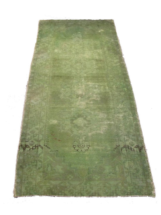 Overdyed Turkish Carpets - Rich color with hints of underlying pattern revive well-loved vintage Turkish carpets into a truly fabulous area rug.