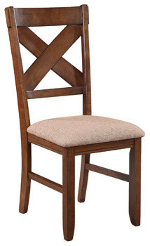 Kraven In A Dark Hazelnut Wood Finish Dining Chair In A Set Of 2 contemporary-dining-chairs