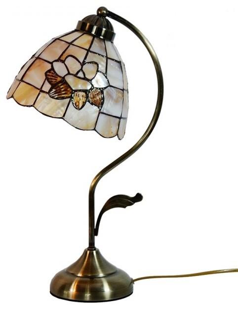 brass base sea shell tiffany lotus table lamp. Black Bedroom Furniture Sets. Home Design Ideas