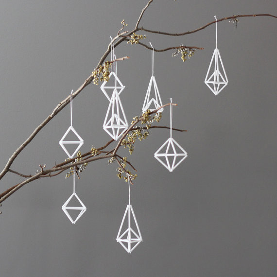 Modern Himmeli Ornaments by AMradio modern-christmas-ornaments