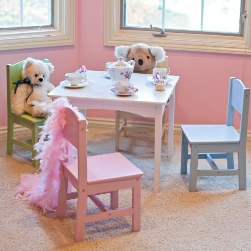 KidKraft Nantucket Pastel Table And Chair Set Traditional Kids Tables And