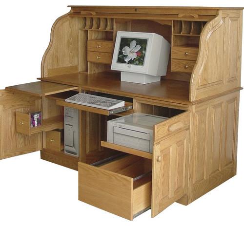 princeton secretary roll top desk modern home office accessories. Black Bedroom Furniture Sets. Home Design Ideas