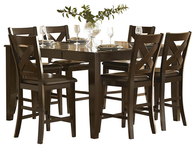 homelegance crown point 7 piece counter height dining room