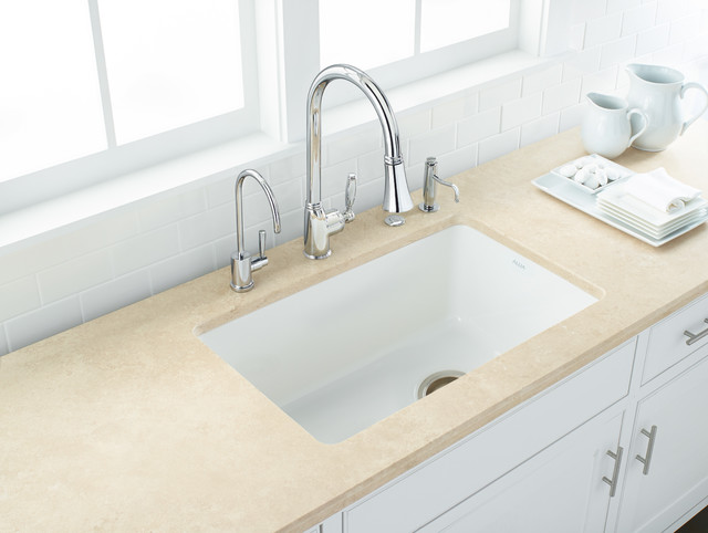 Fire Clay Sinks : ROHL Allia Fireclay Single Bowl Undermount Kitchen Sink - Transitional ...