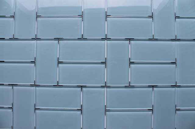 3x6 Glass Subway Tile Pattern Inspiration Contemporary Tile