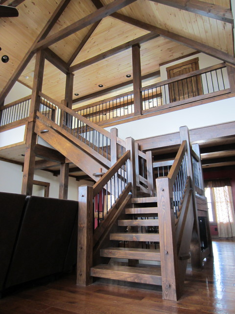 Timber stair rail craftsman other metro by for Craftsman picture rail