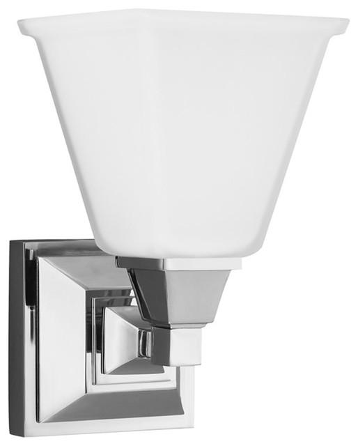 Sea Gull Lighting 4150401-05 Denhelm 1 Light Bathroom Vanity Lights in Chrome - Transitional ...