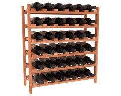 36 Bottle Stackable Wine Rack in Premium Redwood, (Unstained) contemporary-wine-racks