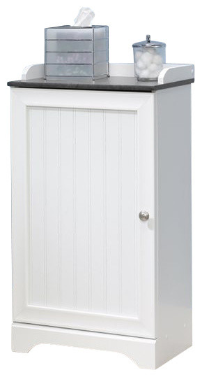 Sauder Caraway Floor Cabinet in Soft White - Transitional - Bathroom Cabinets And Shelves - by Cymax