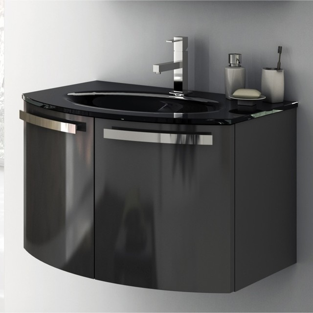 28 Inch Vanity Cabinet With Fitted Sink contemporary-bathroom-vanities ...