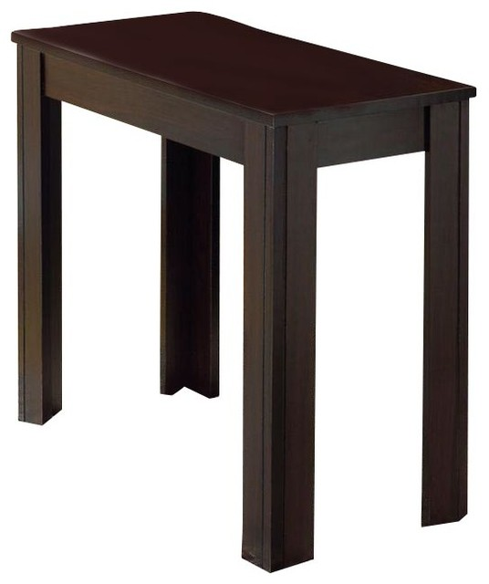 monarch specialties 24 x 12 rectangular accent side table in cappuccino contemporary side