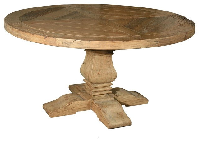 Pedestal 60 Round Dining Table Traditional Dining Tables