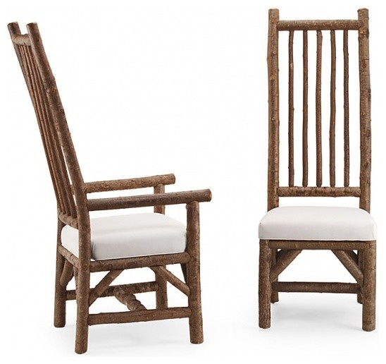 rustic farm chairs antique reclaimed barnwood cabin dining padded