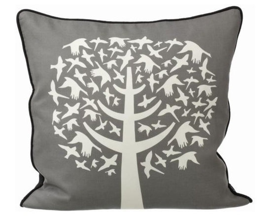 Ferm Living Bird Leaves Pillow - Ferm Living Bird Leaves Pillow