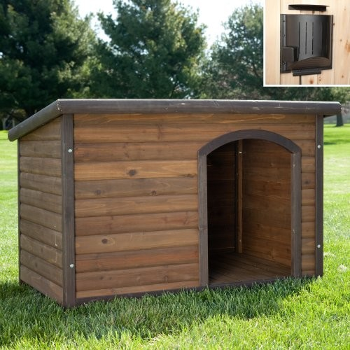 Other Brands Habitats Log Cabin Dog House with Heater traditional-pet-supplies