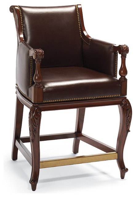 """Acanthus Counter Height Bar Stool (24""""H seat) traditional-bar-stools-and-counter-stools"""